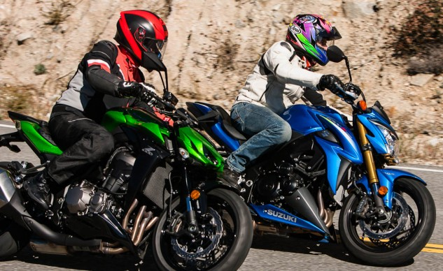 In recent times we've been unable to often say a Suzuki holds a clear price advantage, but that's certainly not the case here. At $10,499 the GSX-S1000 ABS (with traction control) is $1,500 less than the $11,999 Z1000 ABS.