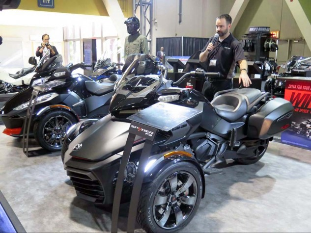 Many eschew and poopoo the three-wheeler, but if the graying of the heads inside the Long Beach Convention Center continues at its current pace, in 20 years there'll be more trikes than bikes.
