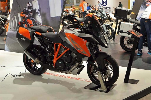 Maybe the most exciting/practical bike this year failed to appear at Long Beach (this photo's from EICMA). And according to our KTM rep, the new Super Duke GT probably won't make it to the states until the fall. Not sure what the hold-up is?