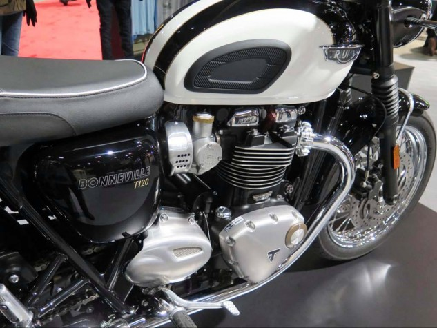Triumph's new Bonnevilles look really tasty up close. We're off to ride them in early December.