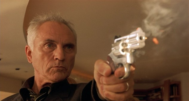 Academy-Award Nominated British actor Terence Stamp, shown here in the starring role of the 1999 movie The Limey, adds a touch of class to Hog Fever.