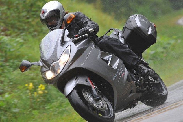 Ride an English-made bike whilst wearing English riding gear, and the rain will come, guaranteed.