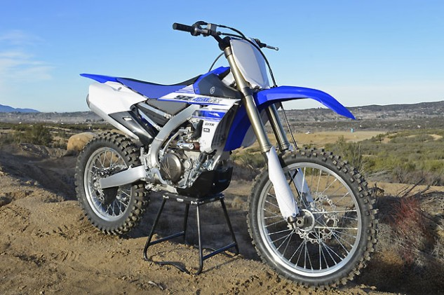 If you didn't know what you were looking at, you might think that the YZ450FX is just another Yamaha motocrosser. However, such items as the heavy-duty plastic skidplate and the sharkfin-shaped rear disc protector are visual clues to the FX's off-road racing intentions.