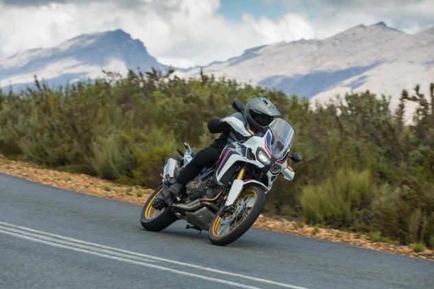 DCT-equipped models were of the Tricolour persuasion, a color scheme (not coming stateside) nod to the original 1988 XRV650 Africa Twin. In South Africa, left is the correct side of the road.