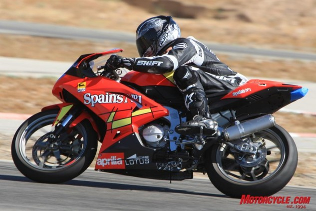 Aprilia leans on its multitude of roadracing world championships to deliver its two-strokin' RS125. Although street-legal in Europe, American imports are limited only to racetrack use. Italian exotica doesn't come any cheaper than its $5,499 MSRP.