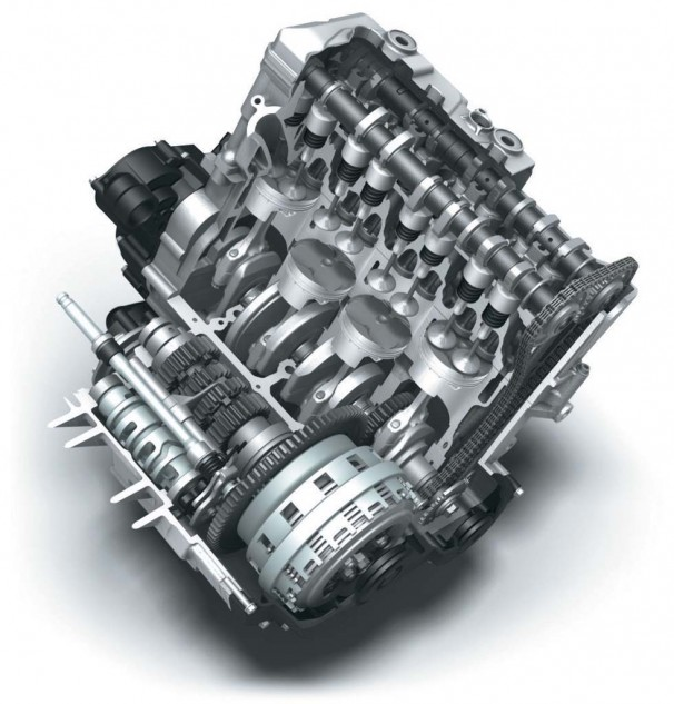 Same bore and stroke as 1985 but with modern materials, the engine is now making 50% more power.