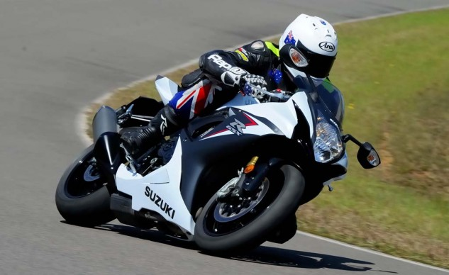The new GSX-R750 goes where you like whether on or off the brakes. It likes the point-and-shoot riding style.