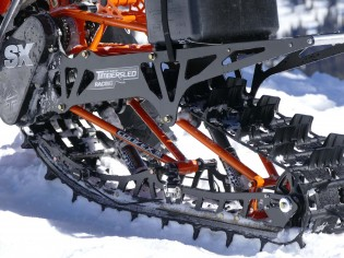 Timbersled now markets three different conversion kits with tracks of varying lengths. Choosing the right one depends upon the displacement of the motorcycle, rider skill and the snow conditions that the rider will encounter. Timbersled is happy to help customers make the right choice for their needs.