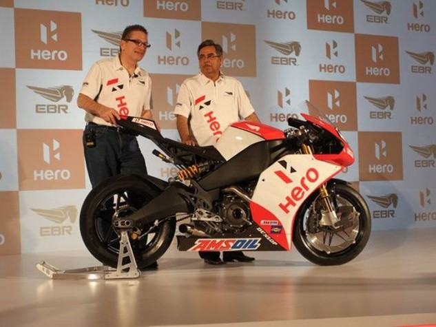 Is the only good Indian a debtor Indian? Rumor has it EBR did a lot of work for Hero's small-displacement home-market program in addition to the World Superbike deal.