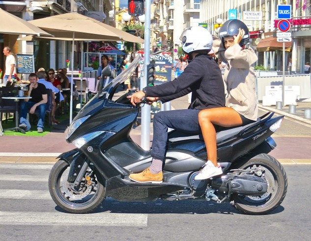 The most efficient and stylish form of travel on the French Riviera is the motor scooter.