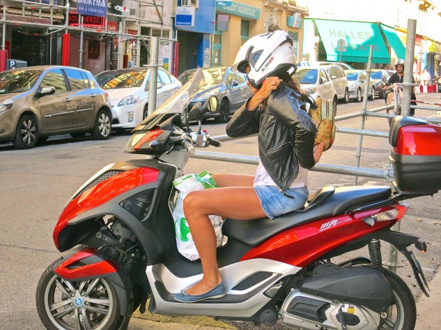 Less than successful in the States, the Piaggio MP3 is the high-end scooter of choice in France. They are available in rental shops, as are Peugeot scooters and Zero electrics.