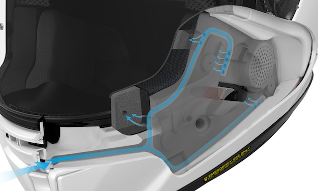 Kudos to Shoei for making an innovative leap forward in helmet venting technology.