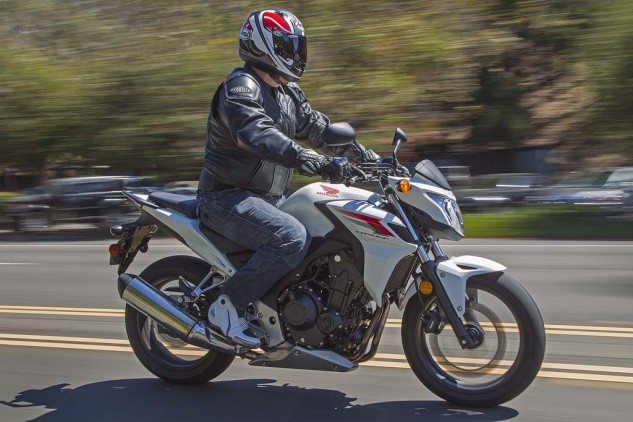 Honda's CB500F could be an option for larger riders looking for a little more oomph, but it's also the heaviest bike of the seven.