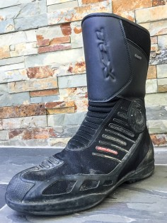 Other publications may give you pristine product shots of the boots they test. MO believes in testing the hell out of gear, as evidenced by the condition of these TCX Touring Classics.
