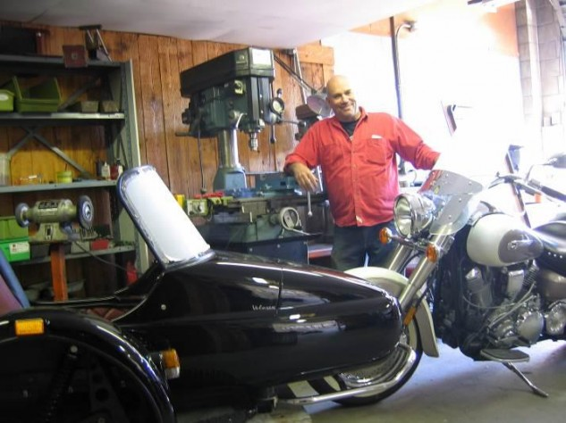 In his Van Nuys Side Strider workshop Doug matched a variety of sidecars he designed or distributed to a wide spectrum of bikes including new and vintage Harley-Davidson, BMW, Triumph, Honda, Kawasaki, Yamaha, you name it.