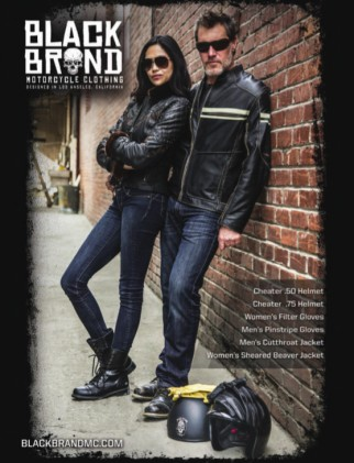 We know they're motorcyclists by the gear they're wearing. So, why confuse things by putting a brand/model motorcycle in the advertisement that might turn off potential customers?
