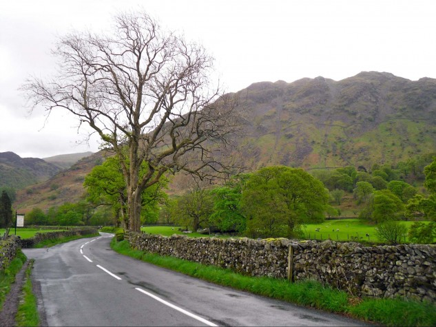 Some roads, like this one in Lake District National Park, are less than well-maintained but worth it for the scenery.