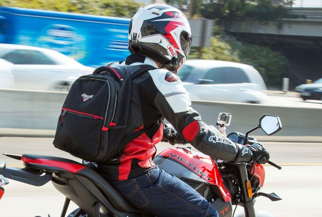 Straps from a backpack rest directly over the two dedicated air inlets on the shoulder. Not a big deal in cooler weather, but you'll be wishing for that extra air when the temps rise.
