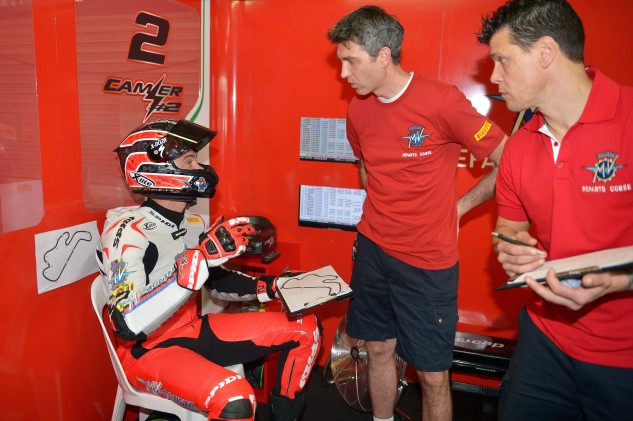 """With Leon Camier last year at Phillip Island – Camier's """"learning year."""" Last weekend, Camier got a 7th and a DNF (Brian says he got a bum tire)."""