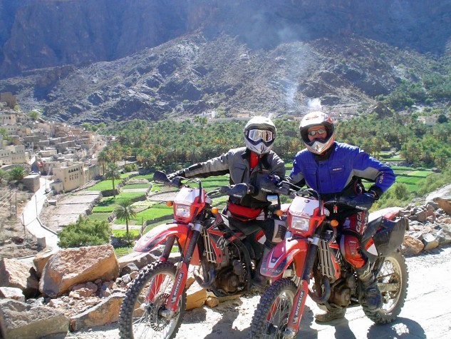 … Or roosting with Josep Pibernat, a co-founder of Gas Gas Motos, somewhere in Spain...