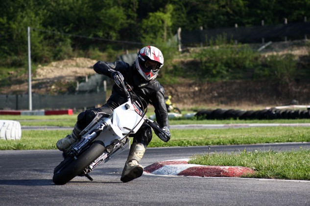 … Or Supermotoing at the Castelletto Ticino track close to the MV factory in Varese.