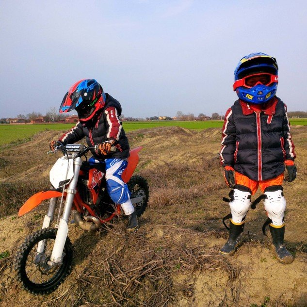 Gillen's got a new race team to manage, anyway, his two boys Alessandro and Max. The step from PW50 to KTM 50 is an exciting one.