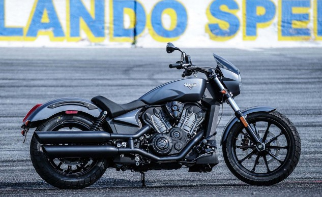 Yes, there is more than just a passing resemblance to the Scout. Still, the Octane is a notably different motorcycle.
