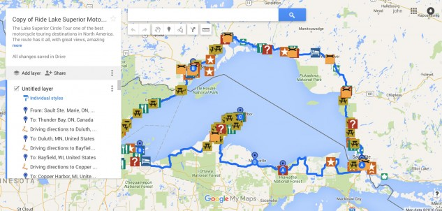 All the way around the world's biggest lake is about a 1300-mile ride.