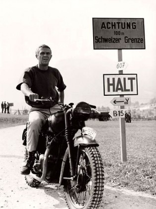 What Would Steve McQueen Do? Whether it be Nazis or nuke meltdowns, when the going gets tough, the tough grab a bike
