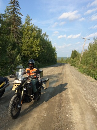 One of the many frisky dirt trails in Temiskaming Shores.