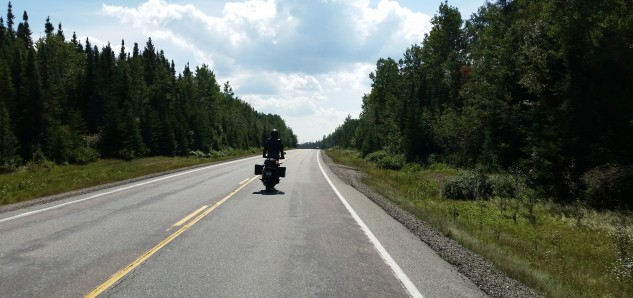 The open road on the way to Sudbury.