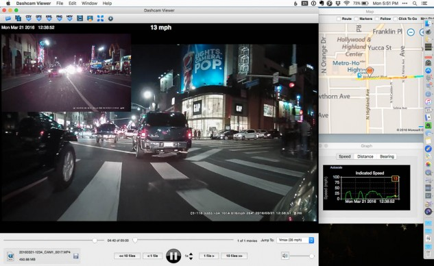 Dashcam Viewer is able to access all of the metadata from the GPS that the Innovv K1 bakes into its movies. Then it can show you where the video was taken on a map.