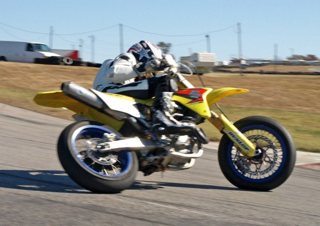 Does this look like a man with substance abuse or anger issues? Okay, well maybe it does. But not many people can ride a motorcycle like this. Photo by twowheelok.com