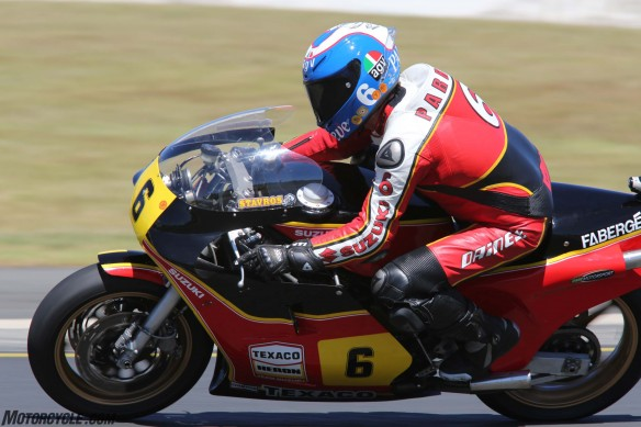 032916-barry-sheene-festival-2016-Parrish hard on the gas. Not bad for a 63-year-old