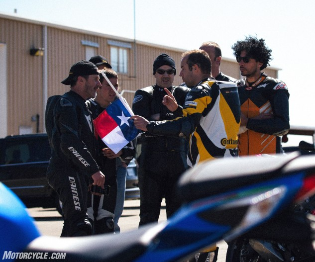 Fail to observe the Texas flag, and you'll be shot on the next lap.