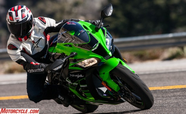 Kawasaki did a commendable job tuning its latest suspension on the ZX-10R to be both compliant on the street and controlled on track.