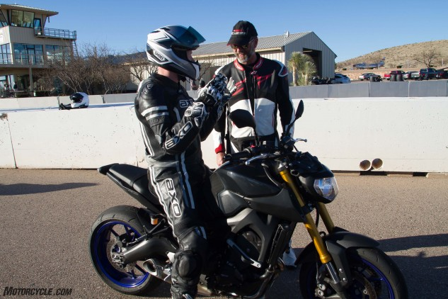 Students get to sample the latest Yamaha offerings, including the FZ-09.