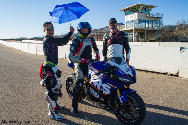 YCRS offers a premium school experience, complete with the chance to ride a Graves-prepped AMA Supersport bike.