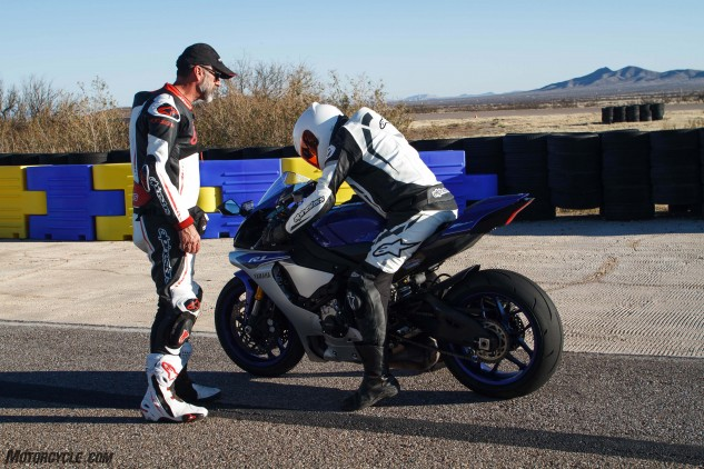 Yamaha sponsorship of the YCRS means students can test bikes like the R1 in a track setting at the end of their two-day event.