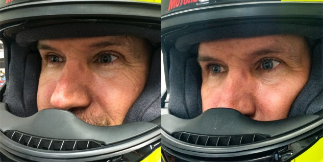 Shoei Persona Fitting System before-after