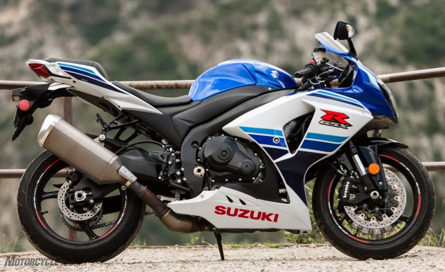 The granddaddy of the sportbike world, Suzuki's GSX-R1000.
