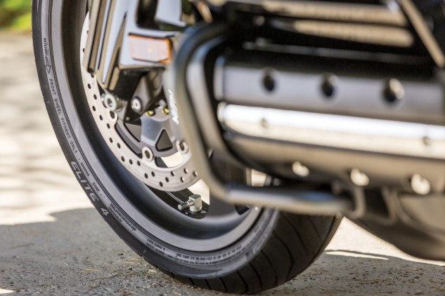 The only radial sizes available at this time just happen to be the ones that fit the Honda Gold Wing. They're longer-lasting, evener-wearing and much quieter than the Elite 3, says Dunlop.