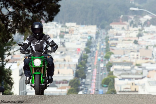 Yes, there's enough power to climb San Francisco's notoriously steep hills. In fact, the little Z is surprisingly gutsy for such a little motorcycle.