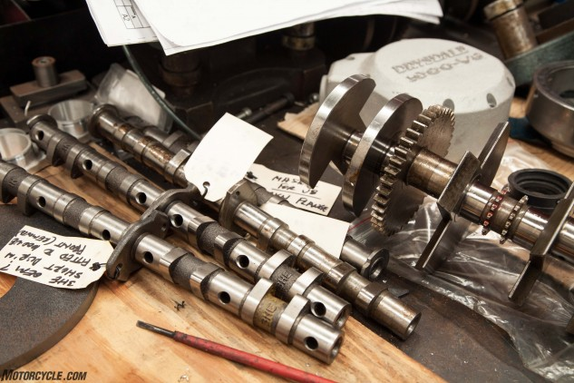 Cams for the V-8s are made in house by Ian, with Clive Cams grinding them to spec.
