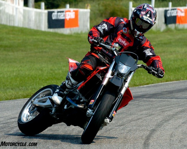 This is how you ride a Supermoto when you do it for a living...