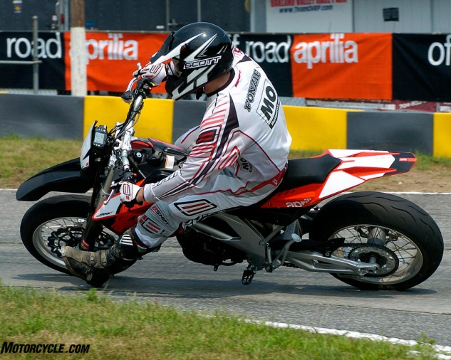 Al made a pretty good showing for himself the first time out on the Supermoto track.