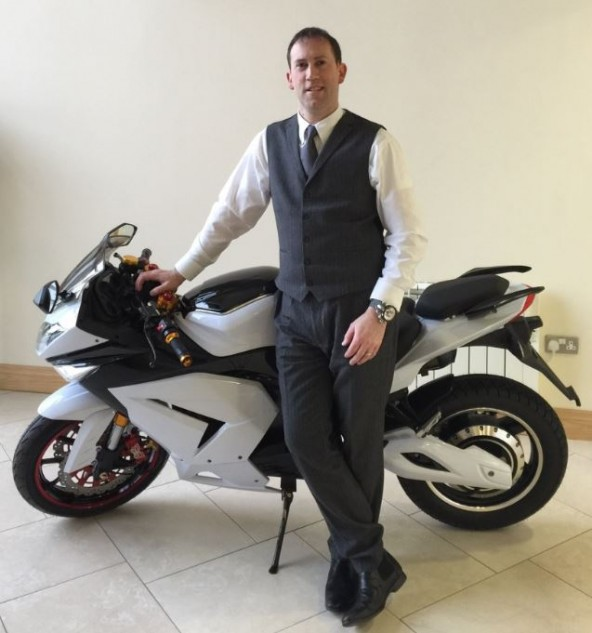 Inspired by Elon Musk, Colin Darby is hoping to shake up electric motorcycling.