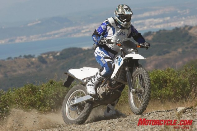 Lightweight, powerful, sweet handling, the 450X is a hell of a lot of fun to thrash about on.