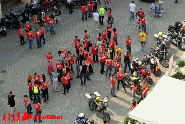The first MissBiker National Motorcycle Gathering in Matorstica, Italy, June 2015.
