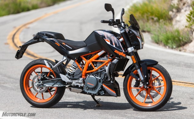 If you do buy one of these and you're not particularly short, do yourself the favor of investing in the Ergo Seat from KTM's accessory catalog. It adds 20mm of height, but it feels 10 times comfier than the dismal stock seat. Looks good, too, and well worth the $120 or so.